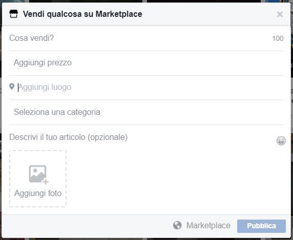 facebook marketplace vendi
