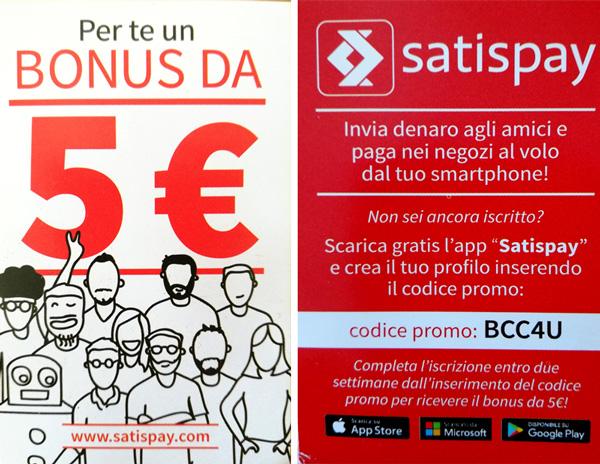 coupon satispay